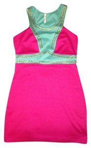 Society of Chic Mini Pink Hot Pink Dress