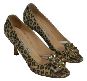 Manolo Blahnik Brown Multi Color Formal