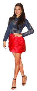 Balmain x H&M NWT Mini Skirt Red