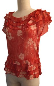 Marc Jacobs Silk Top Orange Red