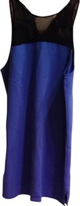 Parker short dress Royal Blue And black on Tradesy