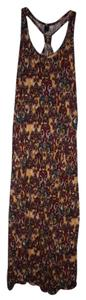 Multi-Color Maxi Dress by DQ Racerback Boho Gypsy Hippie Colorful