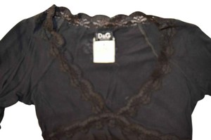 Dolce&Gabbana 3/4sleeve D&g Top Black