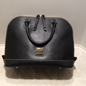 Dooney & Bourke Zipzip Saffiano Leather Satchel in Black