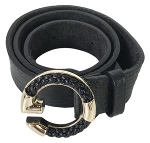Gucci Gucci Black Belt with Braided G Buckle