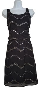 Romeo & Juliet Couture Polyester Beaded Sleeveless Dress