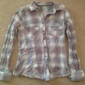 Maurices Button Down Shirt Blue