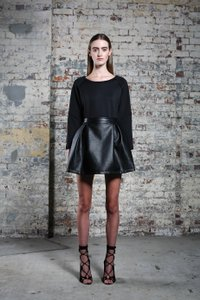 Ringuet Mini Skirt Black