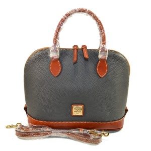 Dooney & Bourke Zip Zip Leather Satchel in Dark Grey