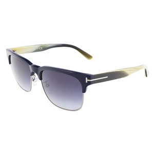Tom Ford Tom Ford Blue/Beige Horn Clubmaster Sunglasses