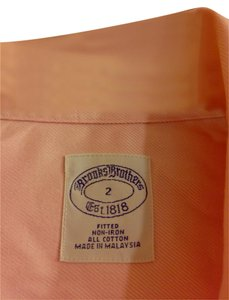 Brooks Brothers Fitted Button Down Shirt Pink