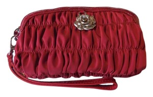 Brighton New With Tags Ruched Wristlet in Cherry Red