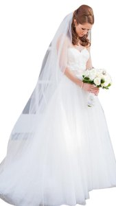 9ft cathedral white Soft Wedding Veil