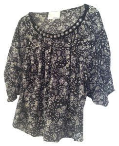3.1 Phillip Lim Jeweled Bling Loose Casual Top Black