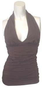 Victoria's Secret Bra Halter V-neck Brown Halter Top