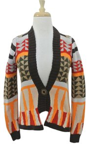 Anthropologie Southwest Cardigan Printed Sweater