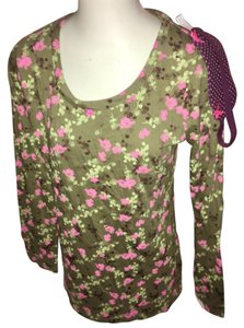 Candie's Top Green and pink