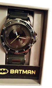 DC Comics New BATMAN DC Comics Gunmetal Black tone Watch with Bat Logo
