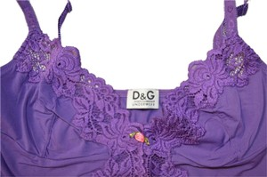 Dolce&Gabbana D&g Lingerie Top Purple
