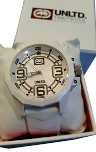 Marc Ecko NWT MARC ECKO RHINO UNLTD COLLECTION THE SPARK WHITE WATCH