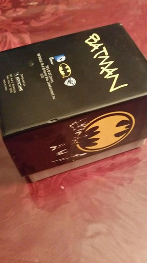 DC Comics New BATMAN DC Comics Gold & Black tone Watch Batman face in Bat Logo Image 3