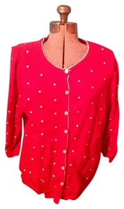 Christopher & Banks Polka Dot Button Down Cardigan