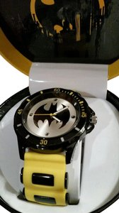 DC Comics New BATMAN DC Comics Yellow Black tone Bullet Watch In COLLECTIBLE BOX
