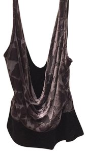 Diane von Furstenberg Top Black and gray