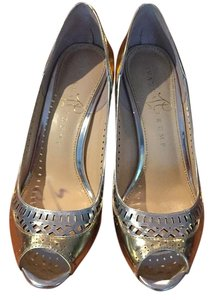 Ivanka Trump Gold and Silver Pumps