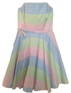 Vineyard Vines short dress Pastel Multi Rainbow Stripe on Tradesy