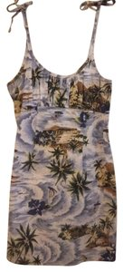 Other short dress blue/island print on Tradesy