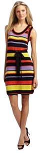 Milly Sweater Knit Ric-rac Ric Rac Striped Nautical Stripes Dress