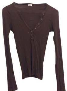Splendid Henley Thermal Top Brown