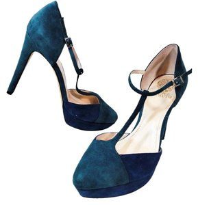 Vince Camuto Sexy Vintage Inspired Blue Green Multi Platforms