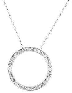 Other .33 Carat Diamond Circle Pendant Necklace