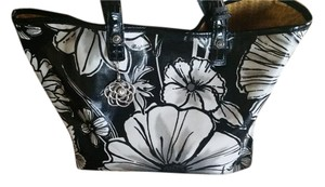 Brighton Retired Coated Canvas Tote in Black/White