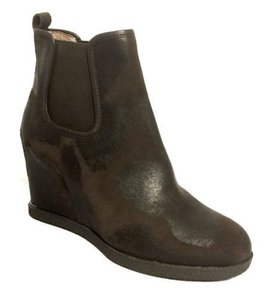 Donald J. Pliner Wedge Slipon Comfort Fashion Brown black Boots