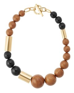Michael Kors Michael Kors Mixed Wooden Bead Statement Necklace
