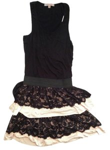 Causal Coture short dress Black Layer Skirt Sleeveless Lace on Tradesy