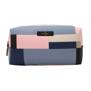 Kate Spade Newbury Lane Printed Medium Davie Cosmetic Bag Case, Multicolor Block