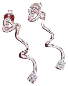 Sterling Silver Filled Small Cubic Zirconia Earrings J2908