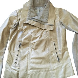 Rick Owens Parchment Leather Jacket