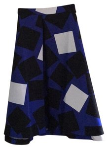 Lane Bryant Skirt Blue, black, white
