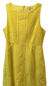 Madewell short dress Bright yellow on Tradesy