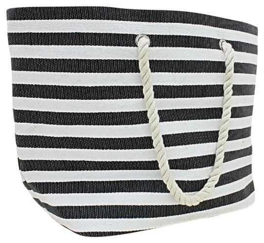 Preload https://img-static.tradesy.com/item/1953907/nautical-stripe-rope-straps-all-purpose-beach-black-and-white-polyester-cotton-blend-tote-0-0-540-540.jpg