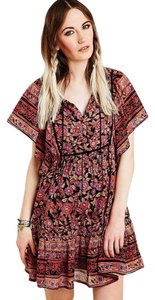 Anthropologie short dress multi Boho Floral Bohemian Festival Cotton on Tradesy