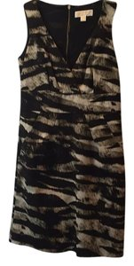 MICHAEL Michael Kors short dress Black/natural animal print on Tradesy