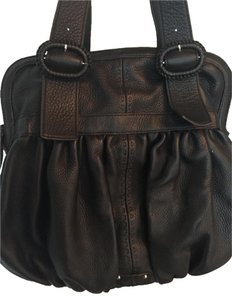 Cole Haan Leather Satchel Black Shoulder Bag