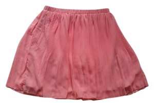 Everly Pleated Skater Light Fluttery Skirt Pink