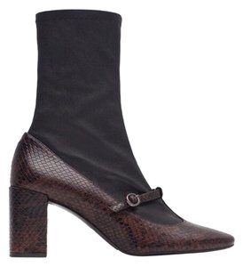 Zara Black and snake embossed Boots
